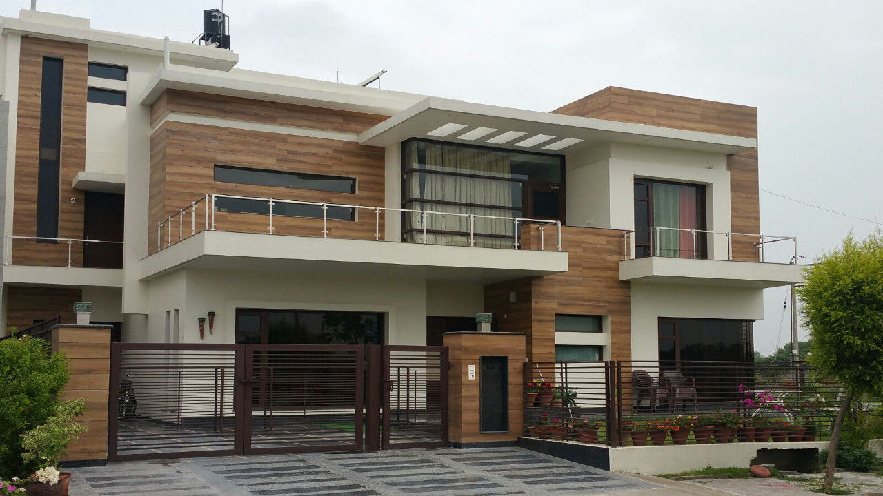 N Home Design Modern Front Elevation Ramesh : Construction company chandigarh